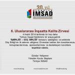Certificate of Appreciation from İMSAD to Hekim Yapı