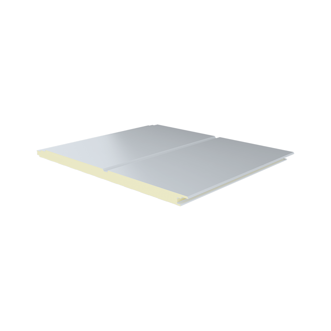 3 Ribs Fluted Metal Sheet Polyurethane Panel