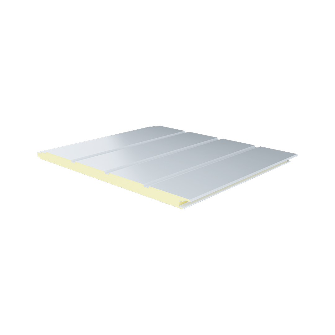5 Ribs Fluted Metal Sheet PIR Panel