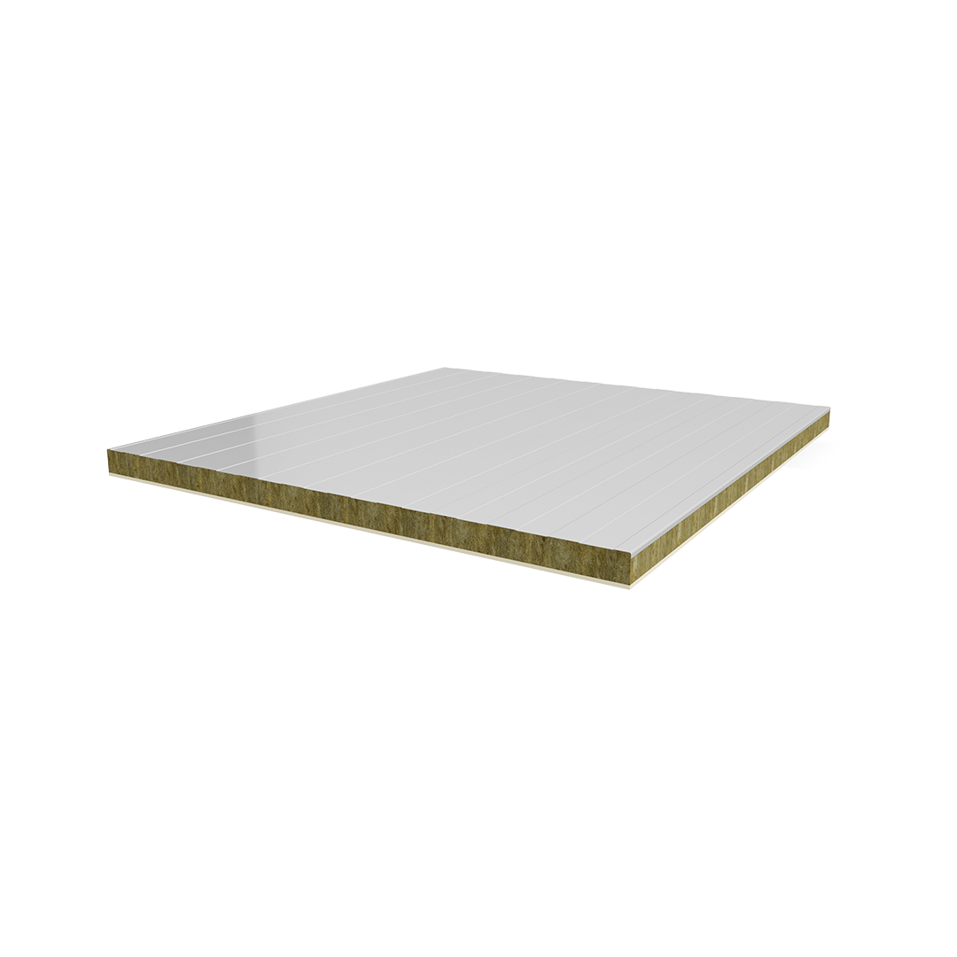 H Type Metal Sheet-Rock Wool-Fibercement Panel