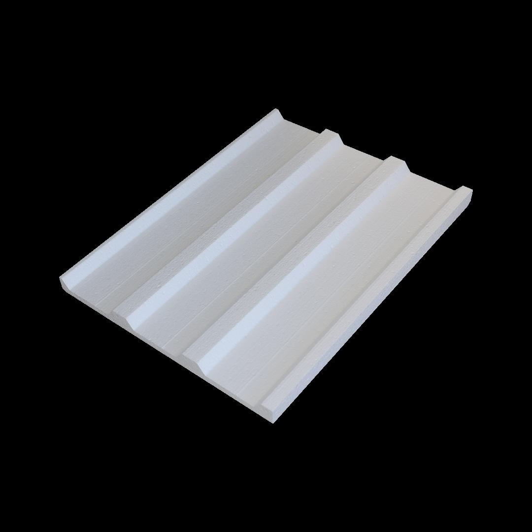 Styrofoam Under Trapozoid Board